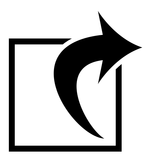 Icon with arrow depicting online complaint filing