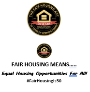 Fair Housing 50th Means Signage