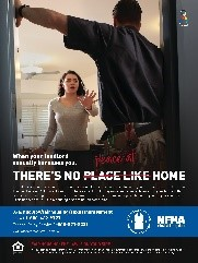 There's no peace at home poster describes how sexual harassment by anyone associated with your property is illegal.