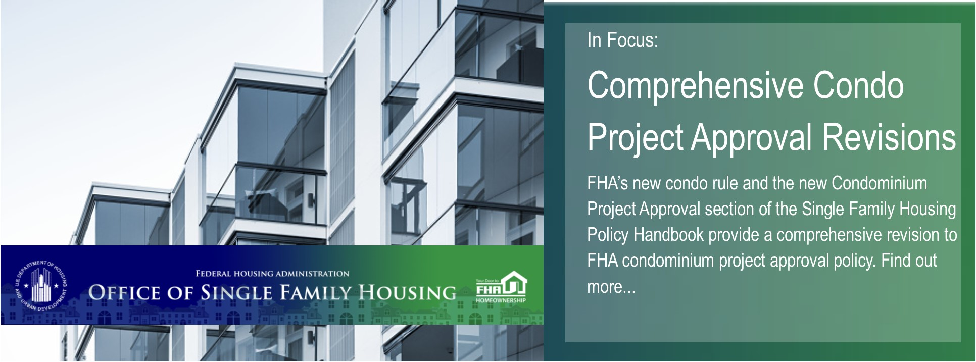 Federal Housing Administration/U S  Department of Housing