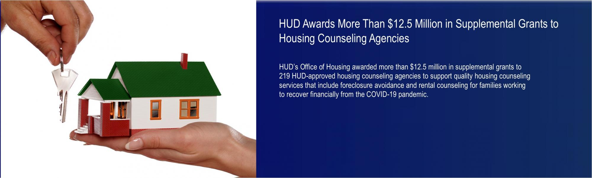 [HUD Awards More Than $12.5 Million in Supplemental Grants to Housing Counseling Agencies].