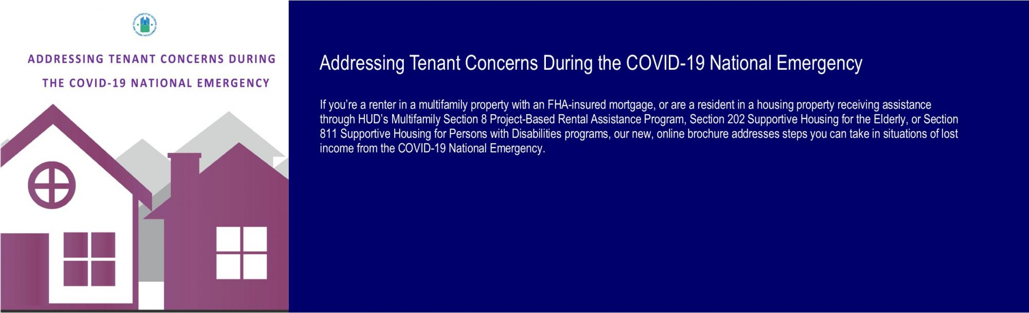 [Addressing Tenant Concerns During the COVID-19 National Emergency]. HUD Photo