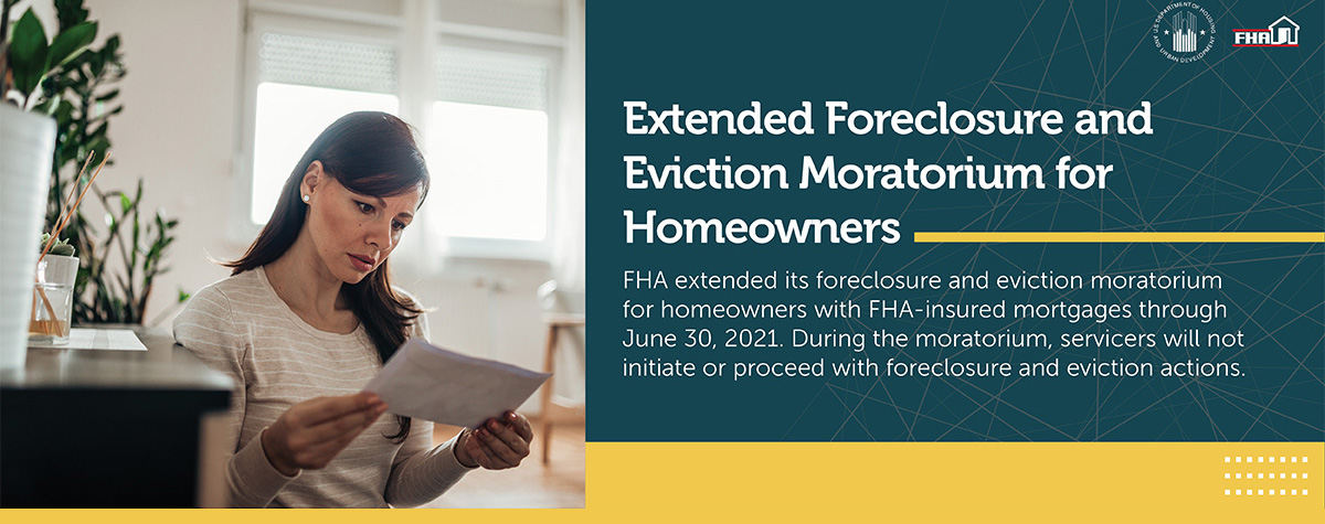[Extending Foreclosure and Eviction Moratorium for Homeowners]. HUD photo