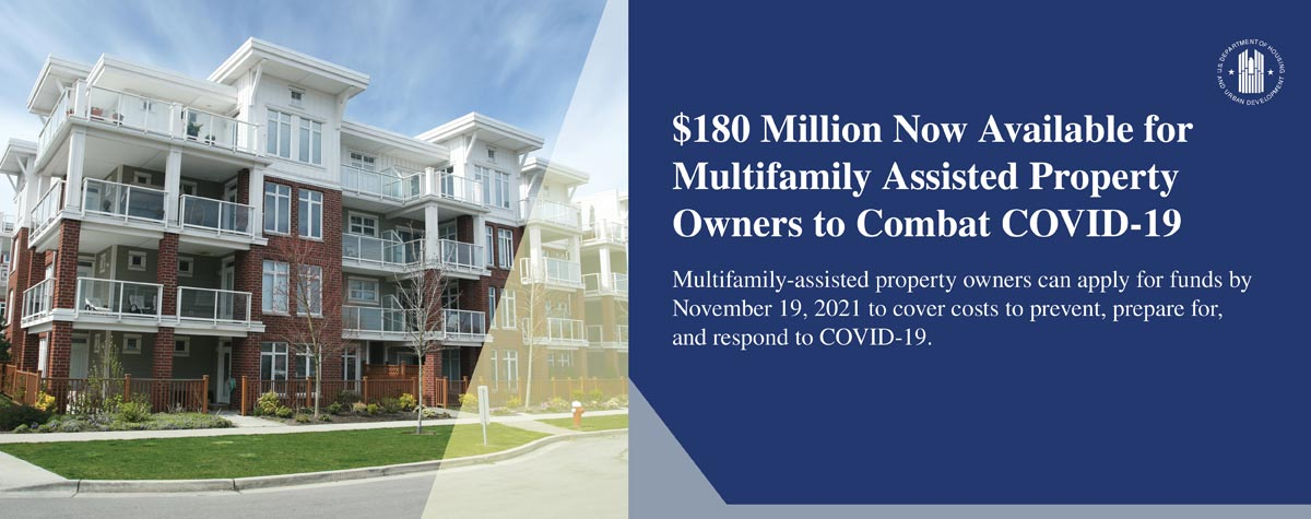 [$180 million available for Multifamily property owners to combat COVID-19]. HUD Photo
