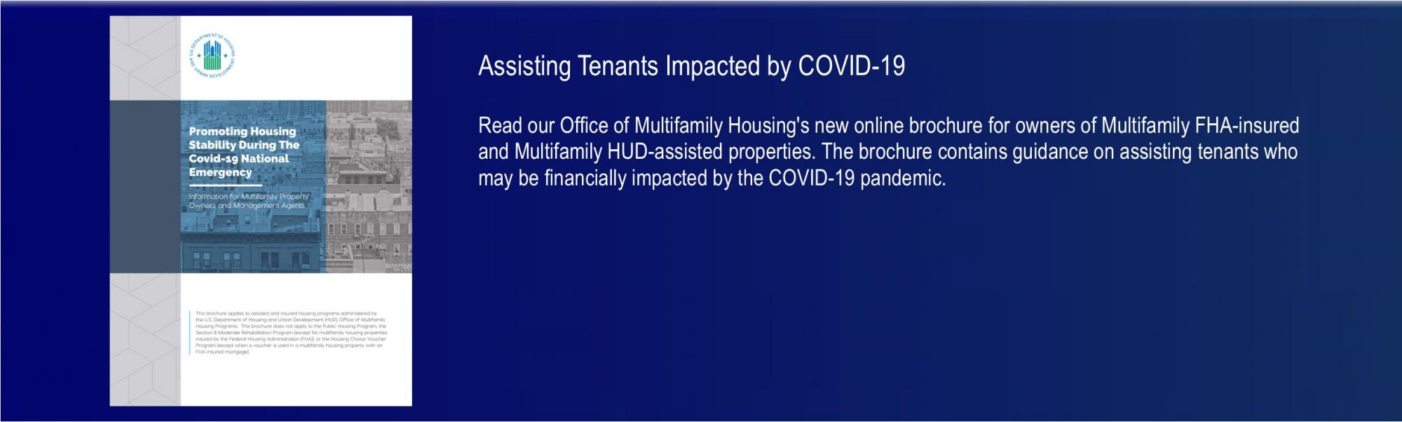 [Assisting Tenants Impacted by COVID-19]. HUD Photo