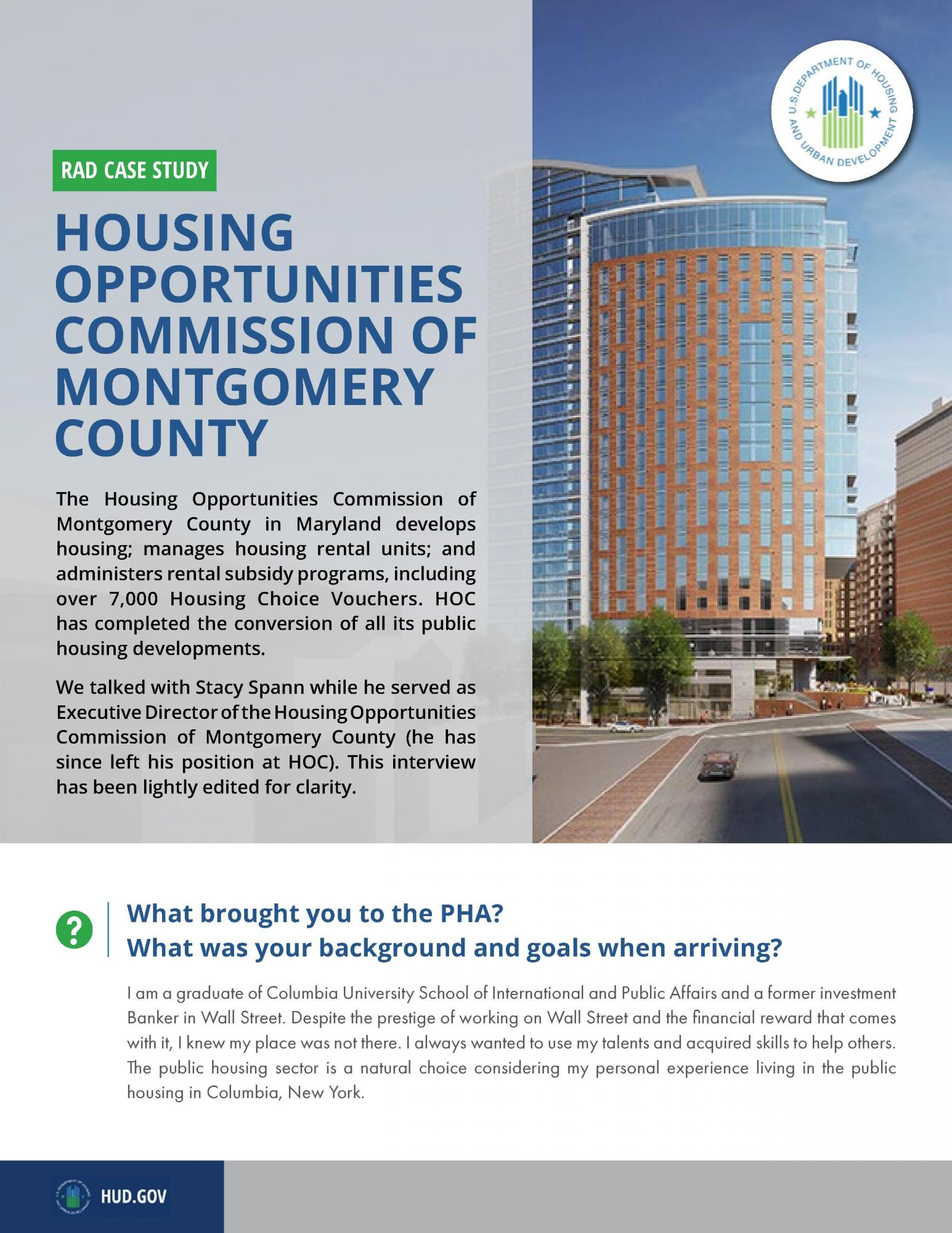 Housing Opportunities Commission Executive Director Q&A