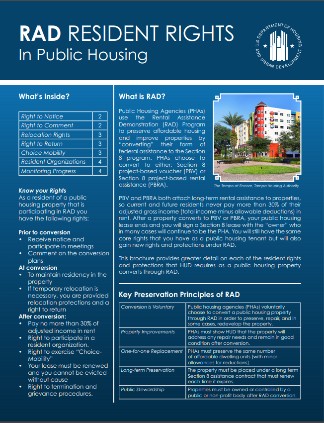 RAD Resident Rights Brochure Picture