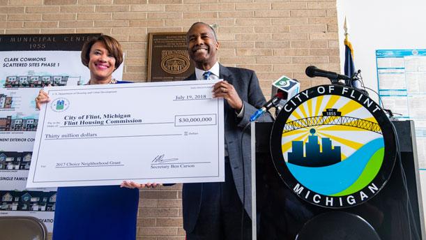 [Secretary Carson announces Choice Neighborhood Implementation Grants in Flint, MI].