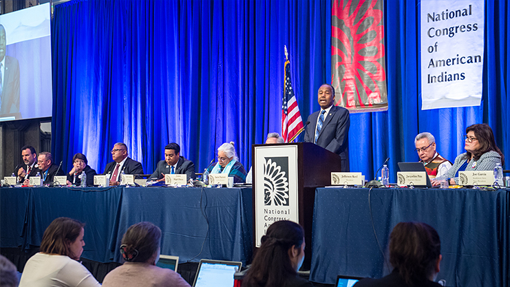 [Secretary Carson recently addressed the National Congress of American Indian's Executive Council Winter Session].