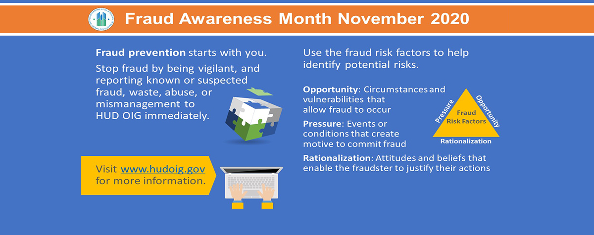 [Fraud Awareness Month November 2020]. HUD Photo