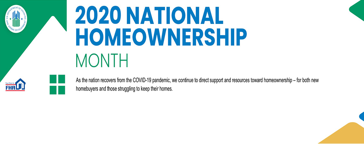 [Homeownership Month - Learn more about buying a home on FHA.gov]. HUD Photo