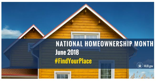 National Homeownership Month poster