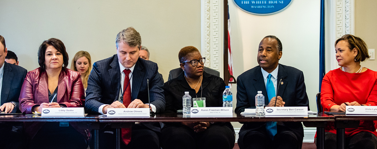 [Secretary Carson addresses White House Roundtable on Housing Affordability].