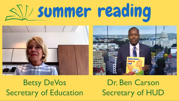 Summer Reading with Secretary Carson and DeVos