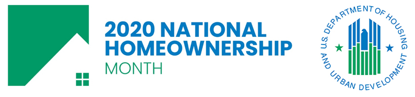 National Homeownership Month 2020 logo
