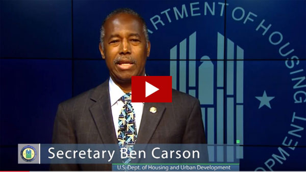 [Secretary Carson talking about the importance of this grant award.]
