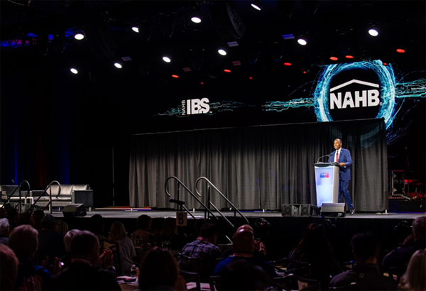 [U.S. Department of Housing and Urban Development (HUD) Secretary Ben Carson speaking at the National Association of Home Builders International Builders' Show on January 23, 2020.]