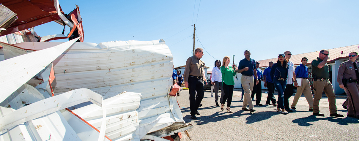 [Secretary Carson tours disaster area].