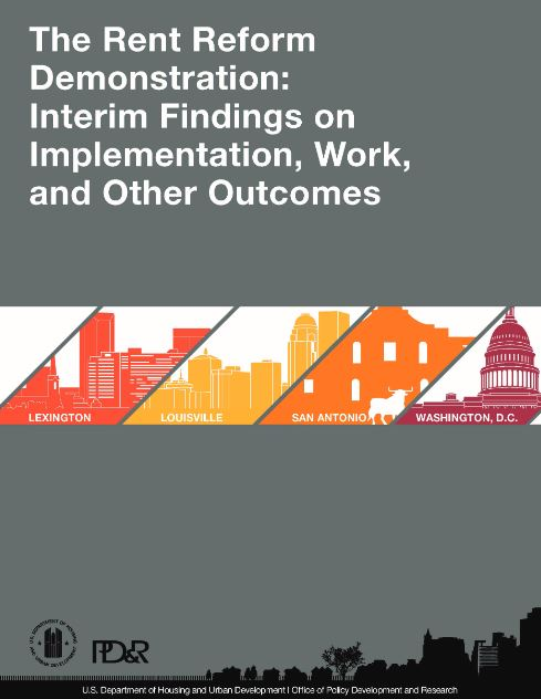 Cover page of The Rent Reform Demonstration: Interim Findings on Implementation, Work, and Other Outcomes report