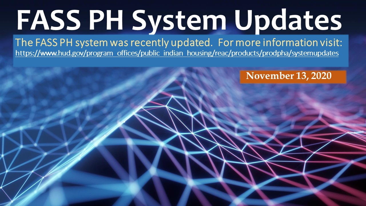 FASS PH System Updates. HUD Photo