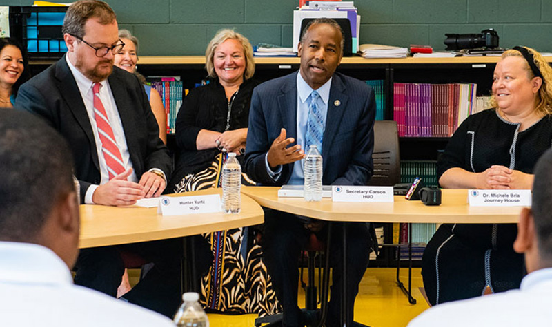 Photo of HUD Secretary Ben Carson meeting with stakeholders.. HUD Photo