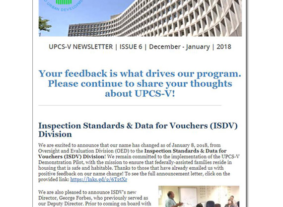 UPCS-V Newsletter.