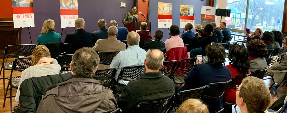 [Little Rock's Metropolitan Housing Alliance kicked off Phase One of it's $70M RAD Conversion on Feb. 22 where HUD Little Rock Field Office Director Wanda Merrick spoke at 'Redevelopment in the Rock'].