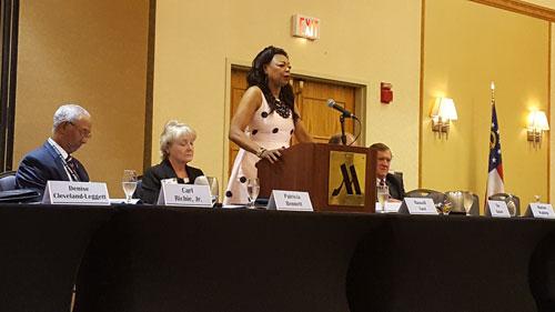 [Regional Administrator Denise Cleveland-Leggett addressed the Georgia Association of Housing Redevelopment Association]. HUD Photo