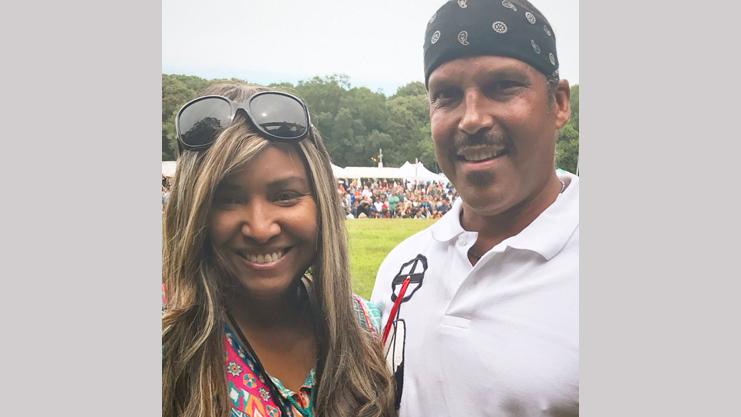 [Regional Administrator Lynne Patton with Shinnecock Tribal Chair Charlie Smith]. HUD Photo