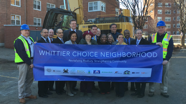 [Officials break ground on phase one of Whittier Street redevelopment project]. HUD Photo