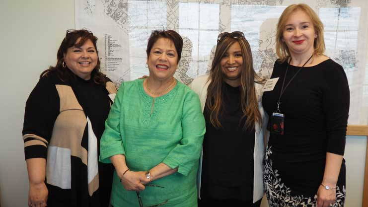 [FHEO Team: Dinorah Velez, Wanda S. Nieves, HUD RA Lynne Patton; and Olena Vivchar]. HUD Photo