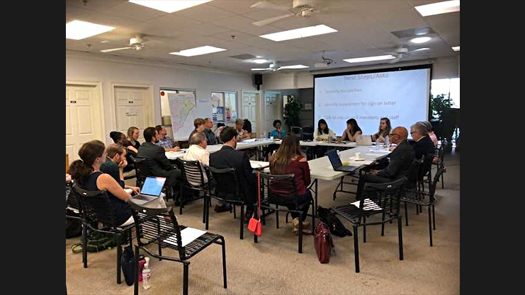 [Cross Keys Neighborhood Sustainability Initiative Committee and HUD work on action plan to address affordable housing issues]. HUD Photo