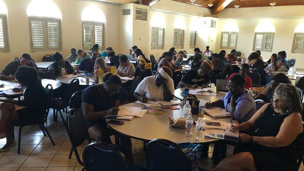 [Workshop in St Thomas]. HUD Photo