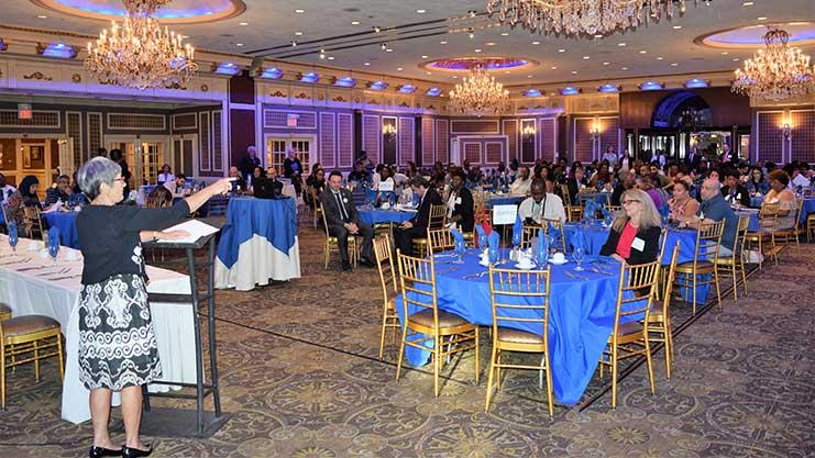 [HUD New Jersey Field Office Director Maria Maio-Messano highlights HUD's 203K Rehab Mortgage Insurance Program]. HUD Photo