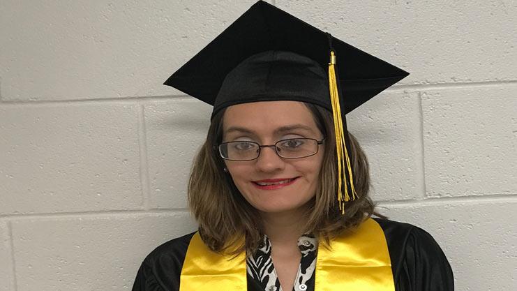 [Amanda Short at the Job Corps Graduation]. HUD Photo