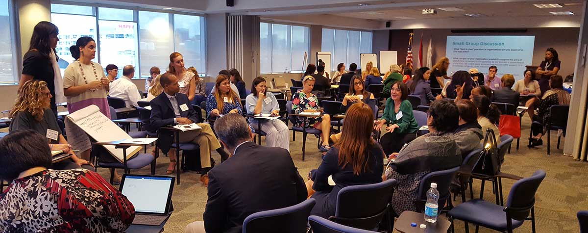 [Forty-eight organizations meet to discuss issues and challenges and to develop a plan to help Puerto Rico disaster recovery survivors]. HUD Photo