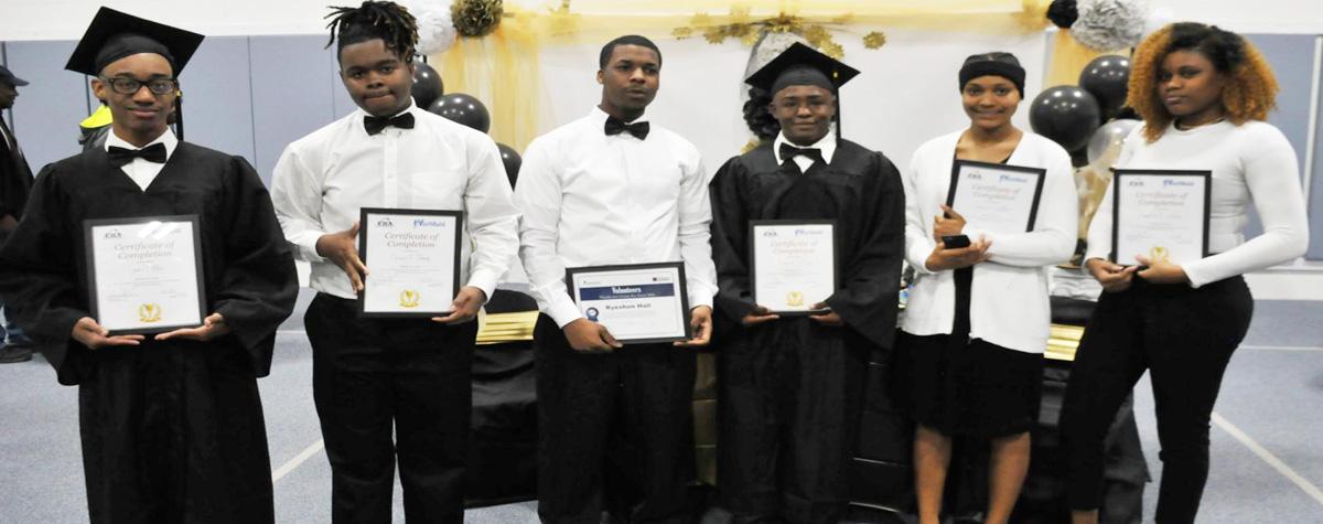 [First group of Eufaula Housing Authority YouthBuild program graduates]. HUD Photo