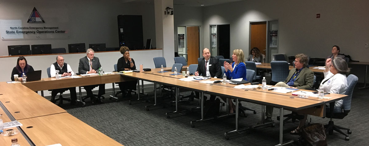 [HUD Field Office Director Jody Moses interacting with members of the NC Housing Roundtable addressing affordable housing issues post Hurricanes Matthew and Florence.]