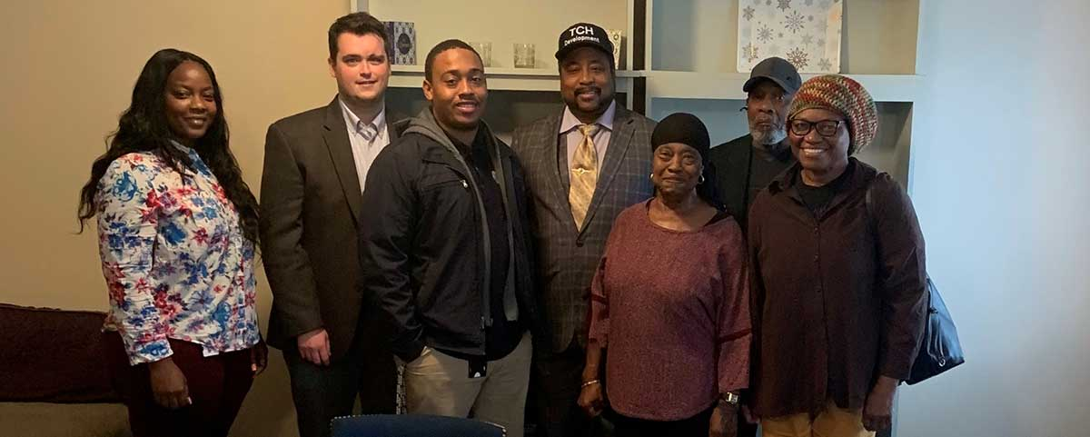 [Front page and embed in story - From left to Right - Nakia Boyle, James Gormley and Solomon Radcliffe HUD Greensboro  Office and the WD Islamic Center Board of Directors.]. HUD Photo