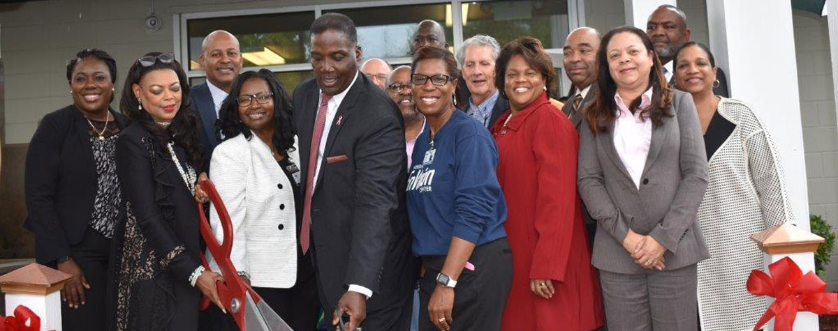 [HUD Southeast Regional Administrator Denise Cleveland-Leggett led the designation ceremony of the first EnVision Center in Mississippi. Meridian Housing Authority was selected for their holistic approach and variety of services]. HUD Photo