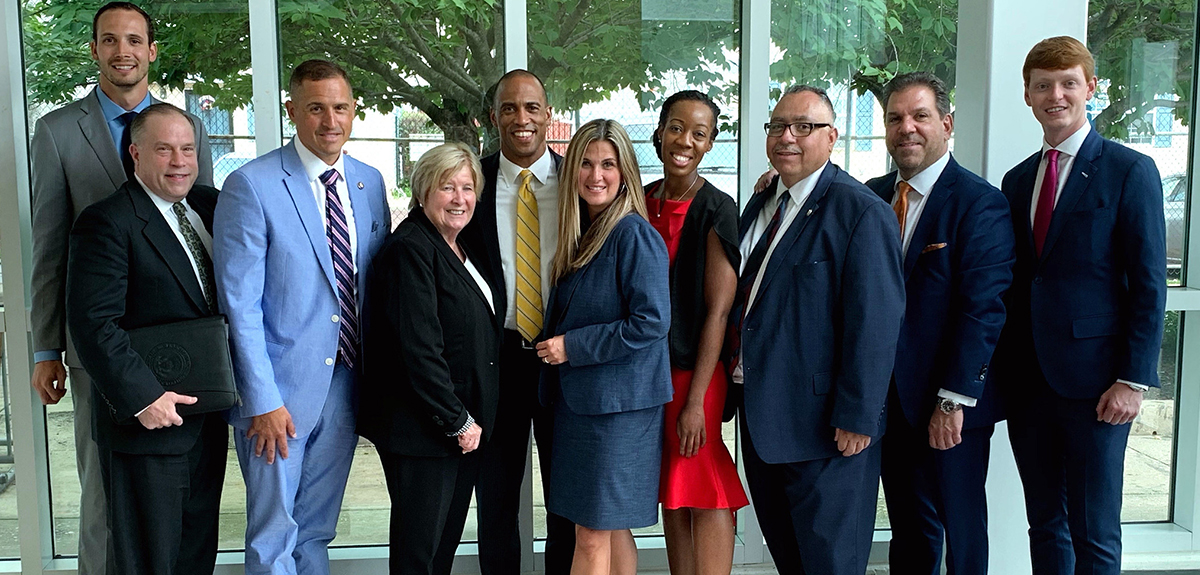 [Federal partners pose for a photo at Opportunity Zone listening sessions in Philadelphia, Pa]. HUD Photo