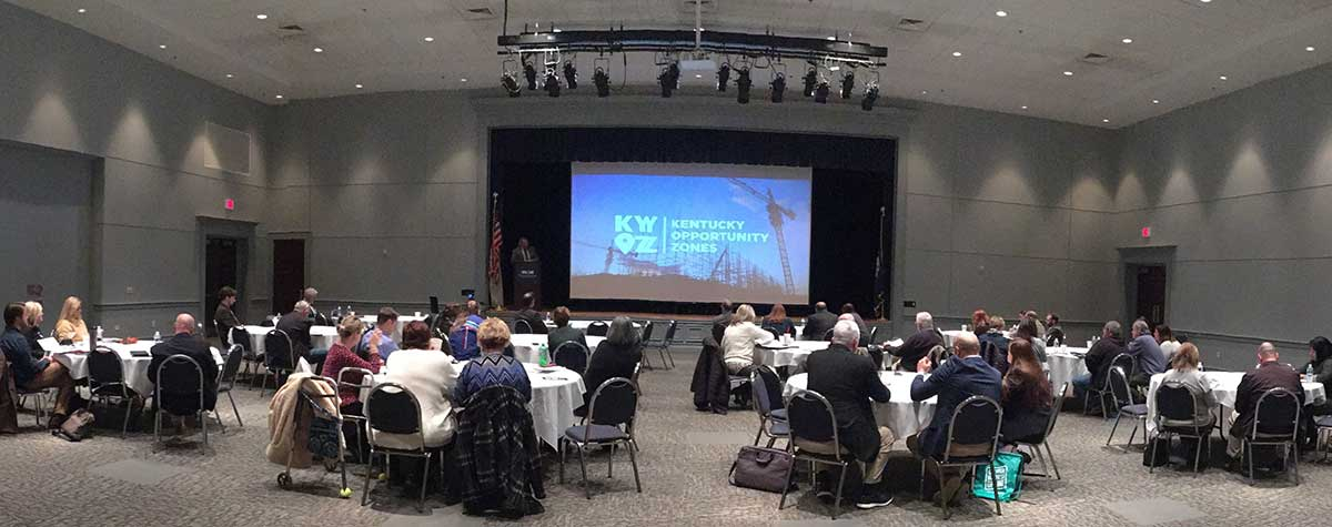[The Eastern Kentucky Opportunity Zones Workshop in Morehead allowed attendees to learn more about Opportunity Zone benefits for rural communities]. HUD Photo