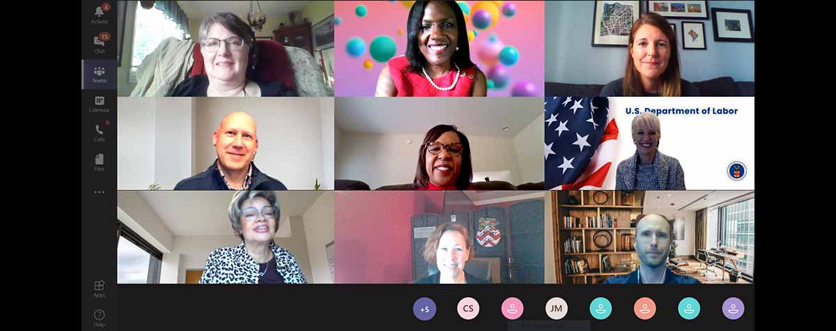 [Screen shot of some of the Region IV 2020 Homelessness Virtual Conference presenters, partners and organizers.].