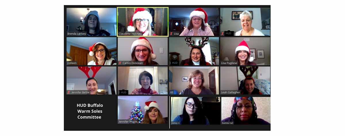 [Screen shot of HUD Buffalo Warm Soles Committee]. HUD Photo