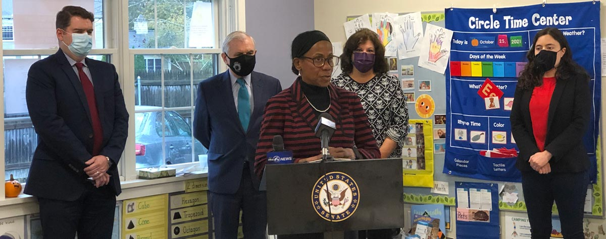 [HUD's Providence Field Office Director, Nancy Smith Greer speaks at a lead poisoning prevention week event in Cranston, Rhode Island]. HUD Photo