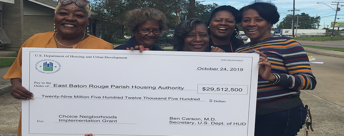 [Residents at Ardenwood Village celebrate HUD's $29.5 million Choice Neighborhood Implementation Grant to transform their housing and surrounding neighborhood].