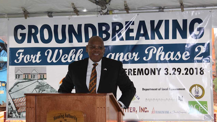 [HUD Kentucky Field Office Director Michael Browder speaks at Housing Authority of Bowling Ground groundbreaking for Senior Housing]. Photo credit Housing Authority of Bowling Green
