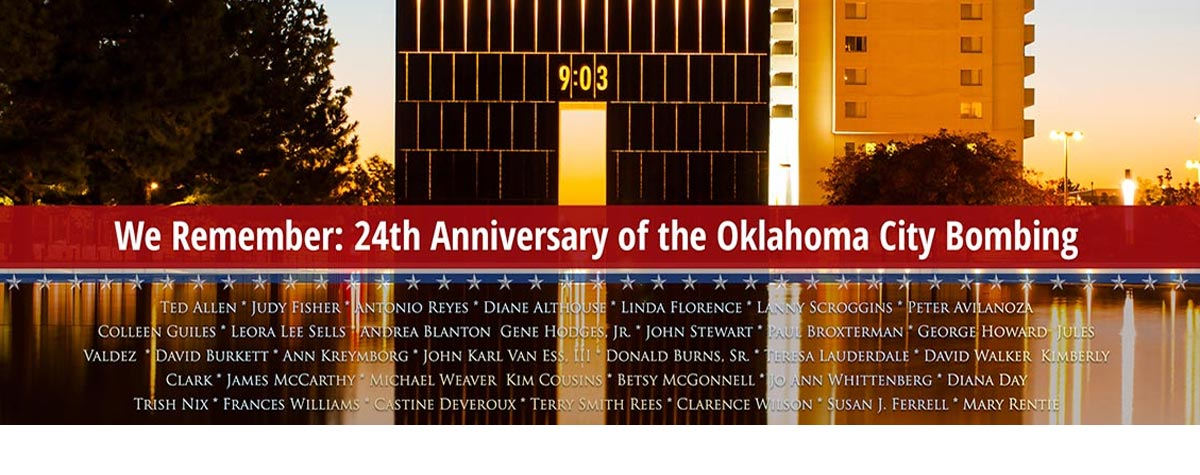 [We Remember: 24th Anniversary of the Oklahoma City Bombing]. HUD Photo