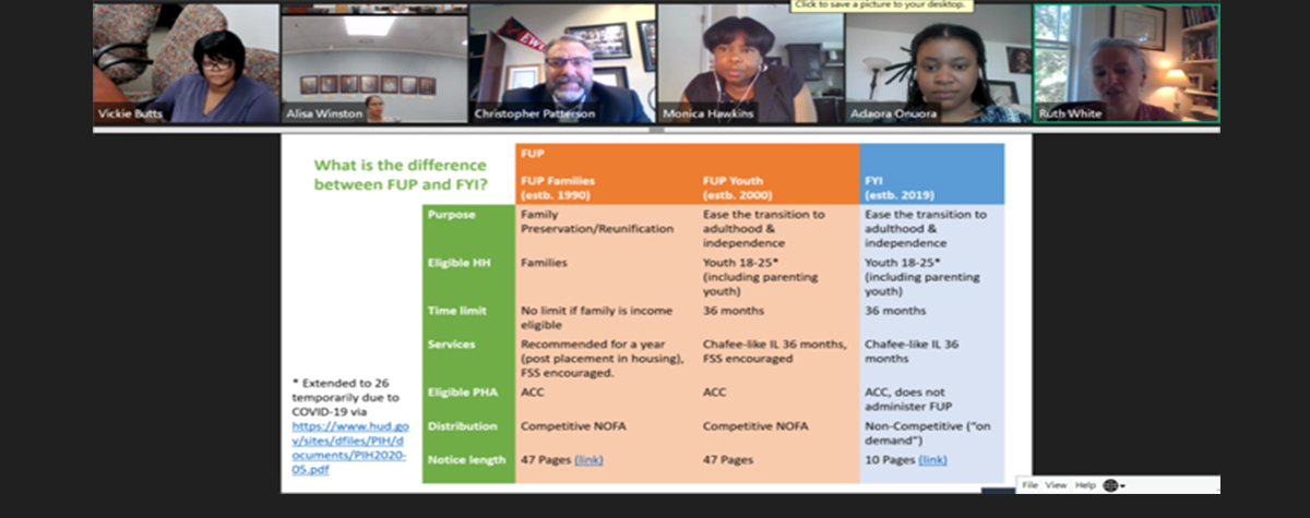[HUD Regional Administrator Chris Patterson Shares Experiences on Mid-Atlantic Foster Youth to Independence Initiative Webinar]. HUD Photo