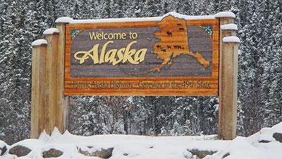 [Photo: Alaska Welcome Sign]. HUD Photo